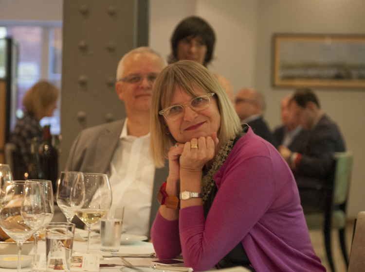 Jancis Robinson MW at WFW Anniversary Dinner. Photography by Jon Wyand