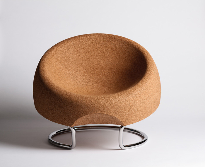 Arruda's Spherical Chair, originally designed for the 2010 Milan Triennale DesignCafé for Swiss- Portuguese company Movecho