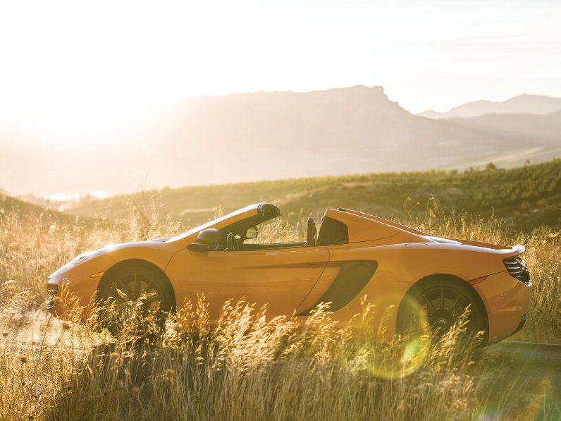 Responding to criticism that the 12c coupe sounded too timid, the spider features an 'intake sound generator' that adjusts engine noise to the driver's liking