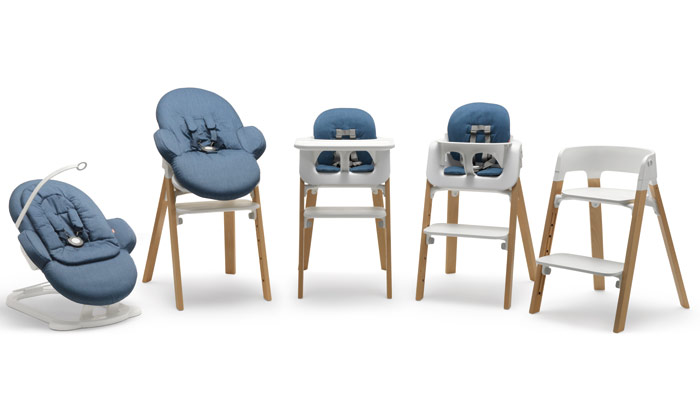 Permafrost took one of Norway's most famous products, the Tripp Trapp high chair, designed in 1972, and produced Stepps, a product that grows with the baby . Photo Credit: Johan Holmquist Portrait Photoshelter