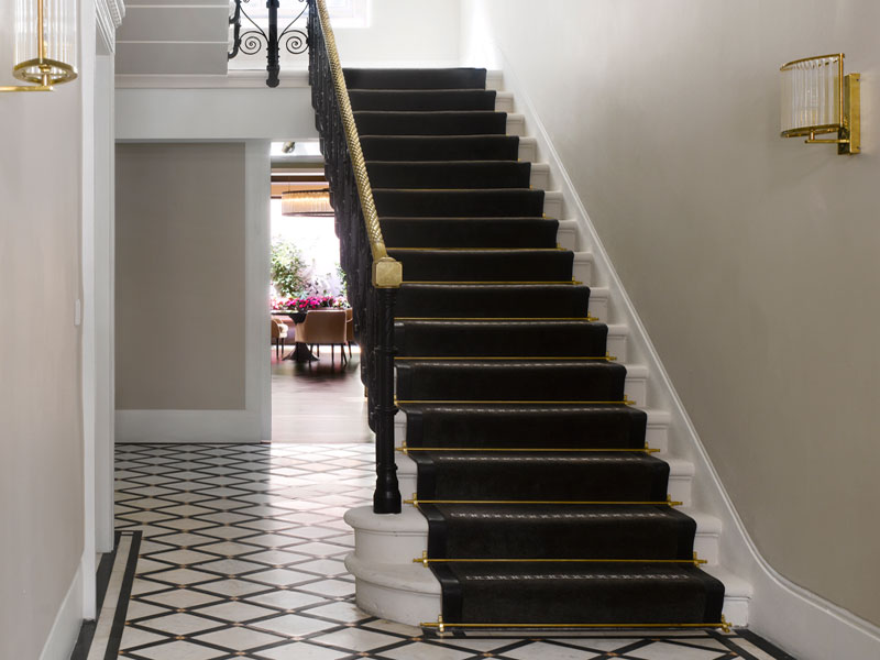 staircase at 8 Stratton Street, Mayfair, London, a listed building.