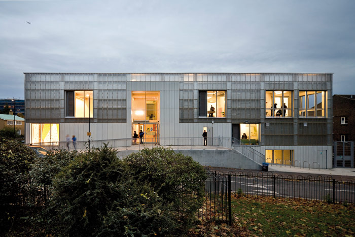 TNG Wells Park Youth Venue, Lewisham (2013). Photo Credit: Jakob Spriestersbach
