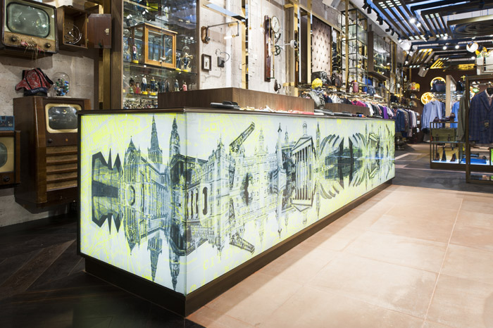 790c456ce The interior of the Ted Baker store in Glasgow follows the theme of  great  Scots