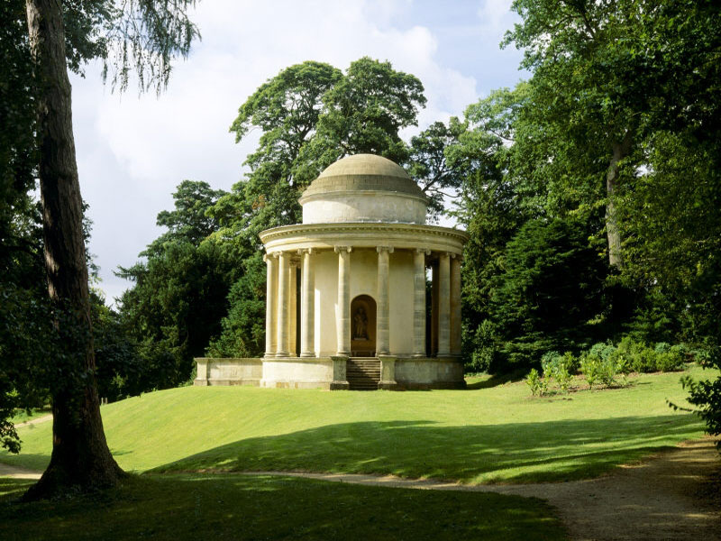 The Temple of Ancient Virtue at Stowe, Bucks, is one of 40 follies there designed by William Kent and James Gibbs. Photo Credit: The National Trust Picture Library