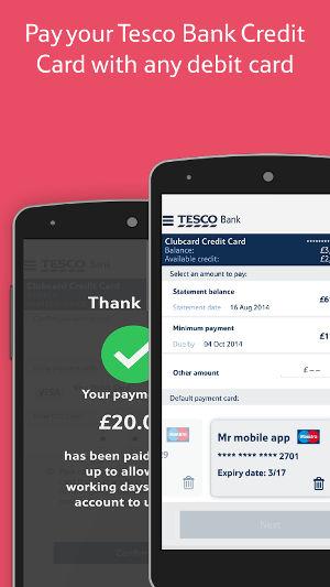 Tesco mobile banking app