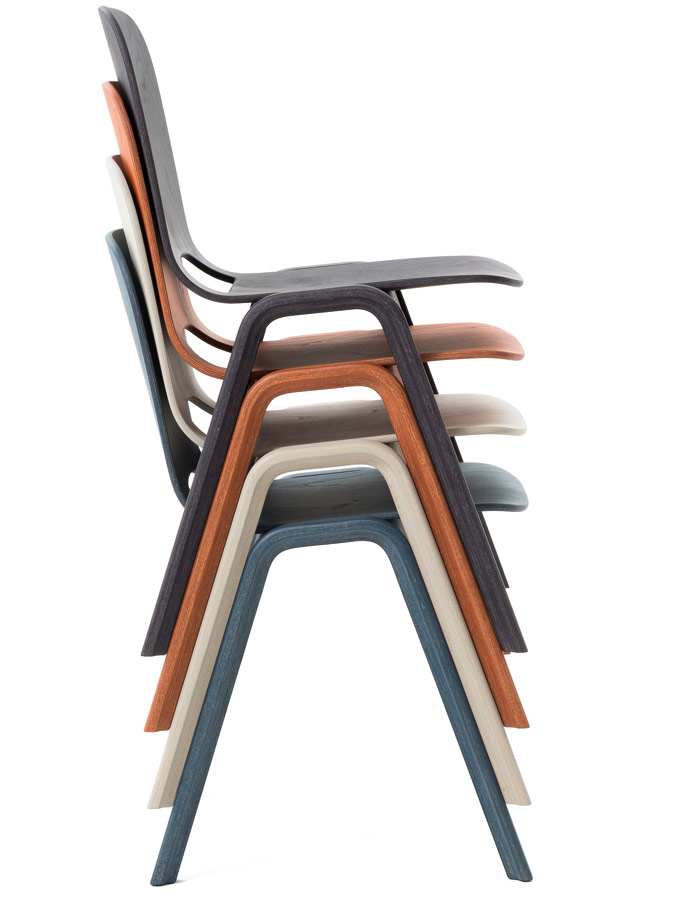 Touchwood stacking chairs from Beller Design