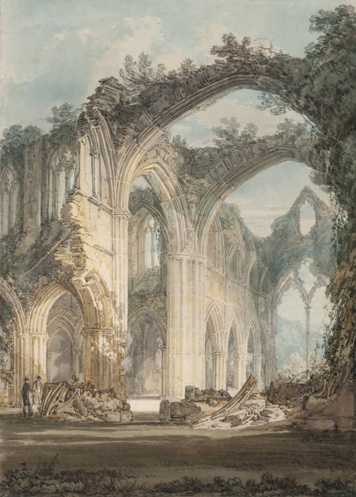 JMW Turner, Tintern Abbey: The Crossing and Chancel, Looking towards the East Window, 1794 Courtesy the Tate Collection