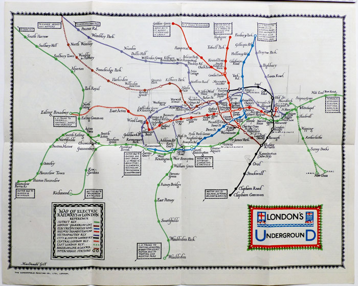 London Underground System map 1922