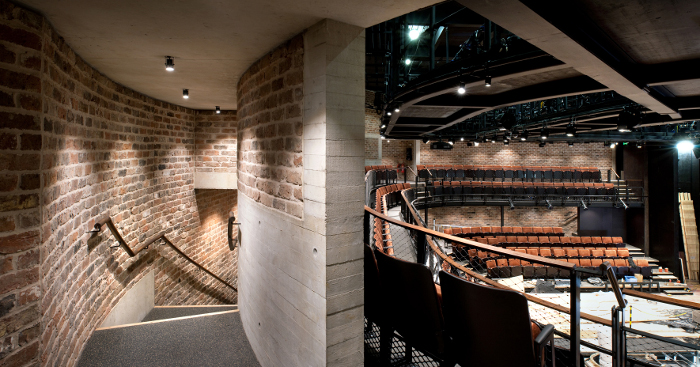 The new stage and seating at the Everyman Theatre, which was intended to keep some of the original flavour while offering a larger seating capacity