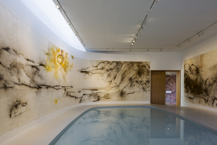 The new Sculpture Gallery with its opening installation, Unmanned Nature, by Cai Guo-Qiang