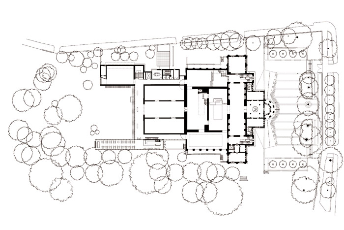Whitworth Art Gallery. Ground Floor Plan