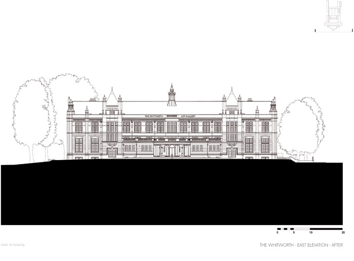 Elevation of JW Beaumont's Oxford Road facade from 1908