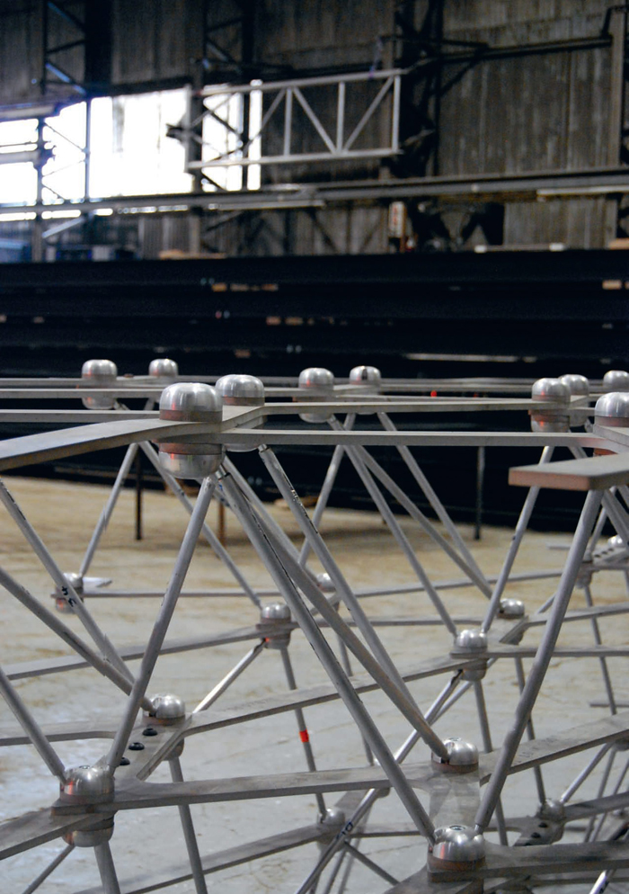 The Hive is effectively a 'giant Meccano set' made up of 32 layers. Photo: Cate St Hill