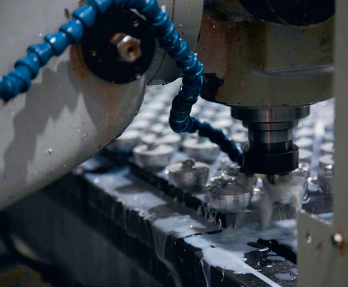 Milling the nodes. Photo: stage one
