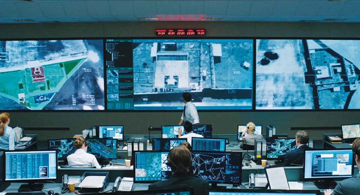 Zero Dark Thirty required computer screens depicting aerial surveillance created from scratch. Photo: 2012 – Zero Dark Thirty, LLC