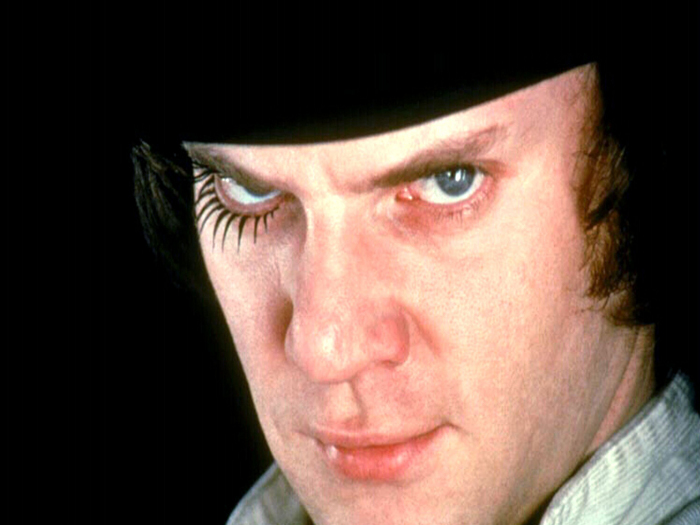 Alex, played by Malcolm McDowell, is the main character in Clockwork Orange (1971), a charismatic, sociopathic delinquent Courtesy RE X/Everett Collection Photography Steve Mepsted