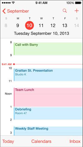 iPhone 5S calendar