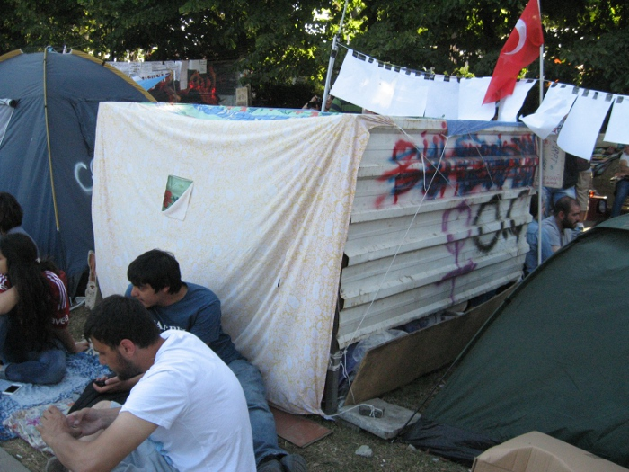 HIM documented the ad-hoc structures created by demonstrators during the Gezi Park protests
