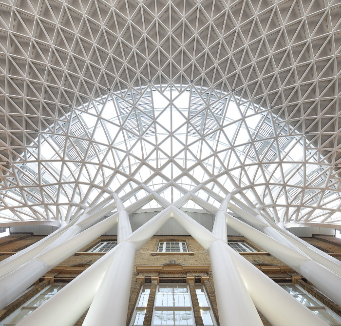 The new steel canopy for King's Cross, engineered by Arup Courtesy Hufton & Crow