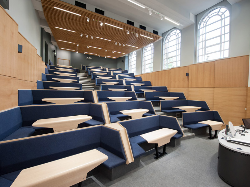 Burwell Deakins' Connect lecture theatre seating has been so successful it's now being commercially produced by Race Furniture.