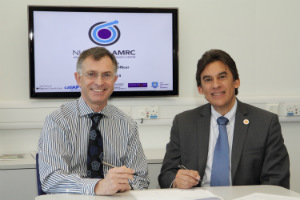 NuScale's Jose Reyes signed the collaboration agreement with Nuclear AMRC chief executive Mike Tynan on 19 November.