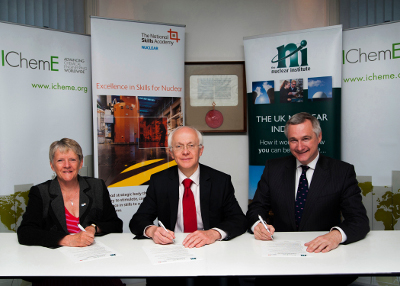 Three leading players on the nuclear skills landscape have joined forces to sign a new collaborative agreement that promotes the highest standards of professionalism across the UK's nuclear industry.