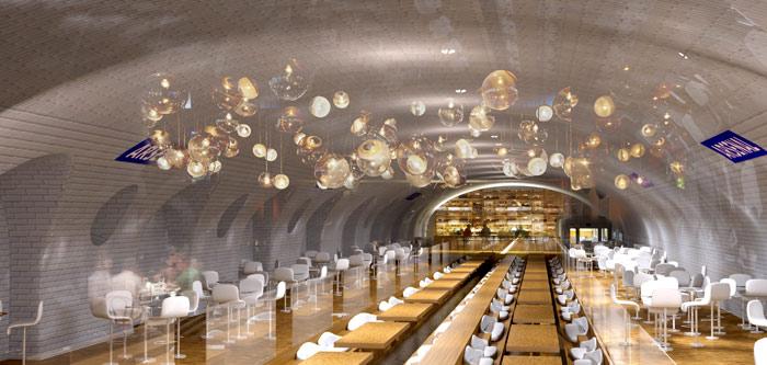 a restaurant cafe
