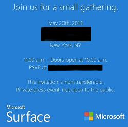 Surface Mini invite