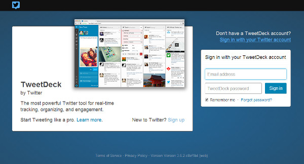 Tweetdeck lets you manage multiple Twitter accounts and feeds.