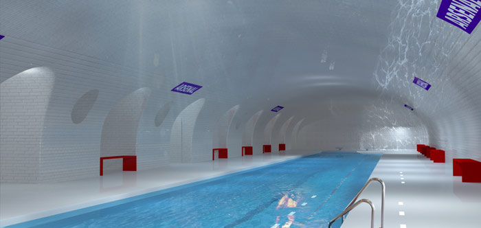 Plans for unused Métro stations include a swimming pool