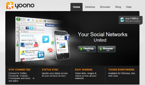 Yoono covers every platform you could wish, and is bulging with features. Perhaps too many.