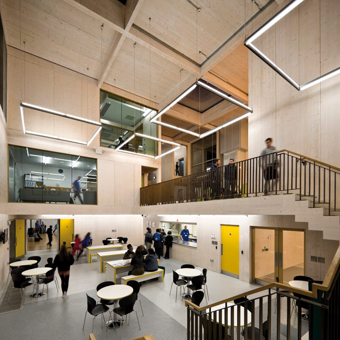 Inside the award-winning youth centre. Photo Credit: Jakob Spriestersbach
