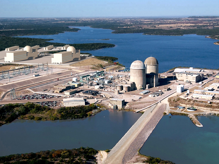Comanche Peak Nuclear Power Plant in Texas is operated by Luminant
