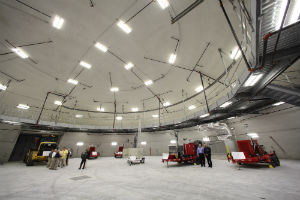 Inside the FLEX dome at Farley nuclear plant