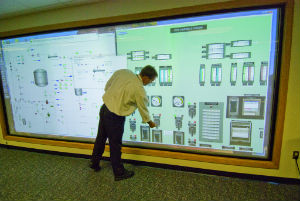 Training screen at the Cook Nuclear Power Plant
