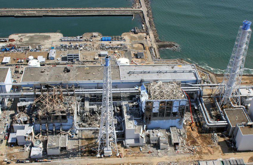 Fukushima Daiichi aerial site view