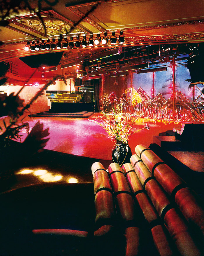 Studio 54's exotic interior featured tube banquettes, which moved on wheels. Photo Credit: Jamie Ardiles-Arce