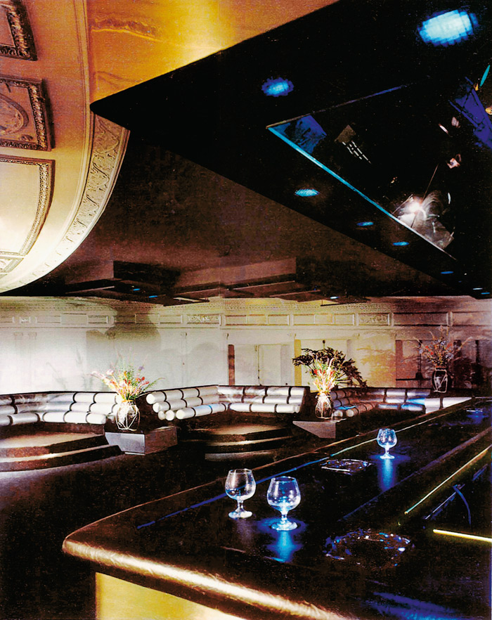 Studio 54's famous banquettes, as seen from the bar. Photo Credit: Jamie Ardiles-Arce