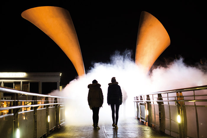 Bristol's Pero Bridge was at the centre of artist Fujiko Nakaya's fog works for 10 days