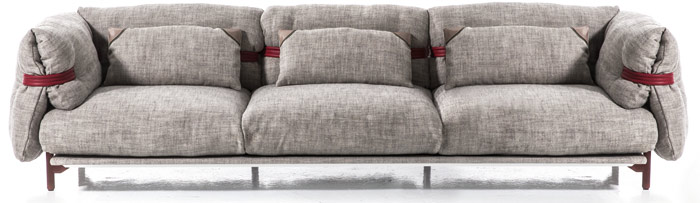 Belt sofa for Moroso