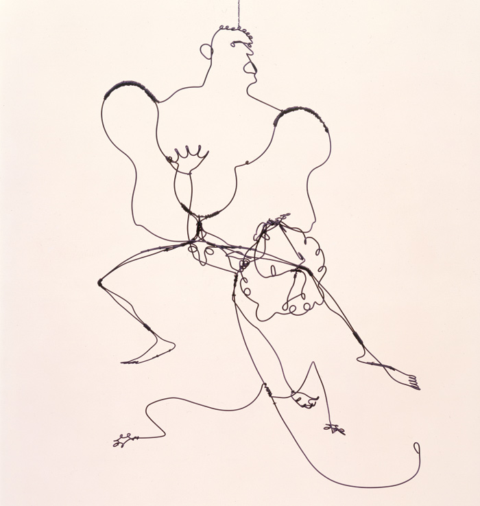 Hercules and Lion, Wire (1928). Image Credit: 2015 Calder Foundation, New York / DACS, London