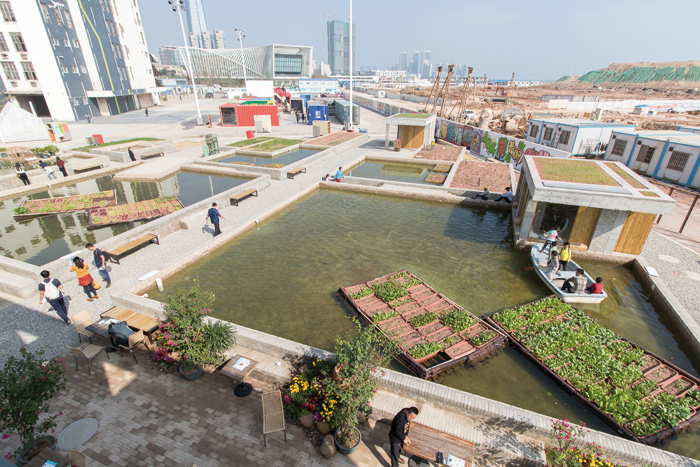 Floating Fields (there are ducks and fish, too) by Thomas Chung, University of Hong Kong. Photo Credit: Courtesy UABB