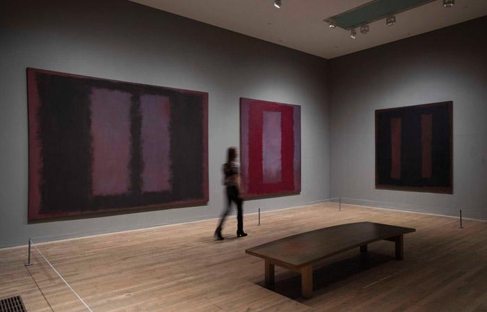 From Tate Modern, Philip Rothko's Seagram Murals