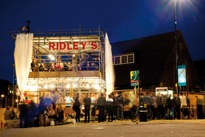 Ridley's was a temporary restaurant created on Ridley Road Market in collaboration with Atelier ChanChan in 2011. Photo Credit: DOSFOTOS