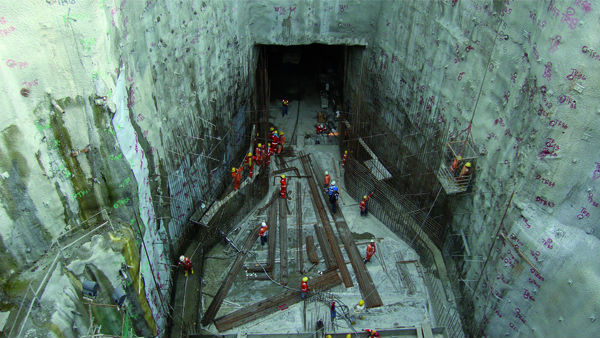 The new intake at the Binga hydroelectric power facility in the Philippines.