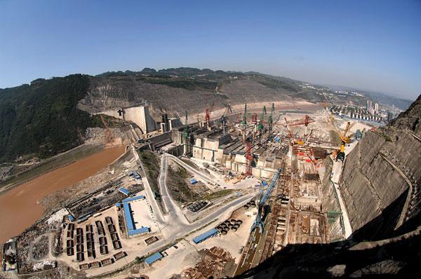 Xiangjiaba hydro project construction. Courtesy China International Water & Electric Corp