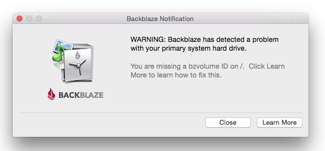 Backblaze Adobe bug