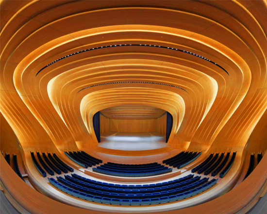 Heydar Aliyev Cultural Centre, Baku, Azerbaijan by Maurice Brill Lighting Design