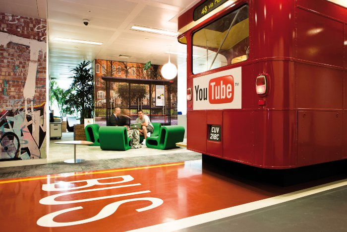 Google Youtube office bus