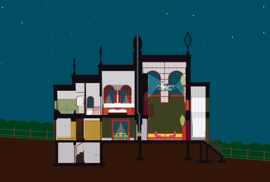 1._Night_section_A_House_for_Essex._FAT_Architecture_and_Grayson_Perry._Image_courtesy_Ordinary_Architecture_Ltd